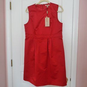 NWT Burberry Lexia Lined Sleeveless Red Dress-12
